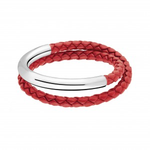 Duo Complice Cuir - Bracelet GM Rouge